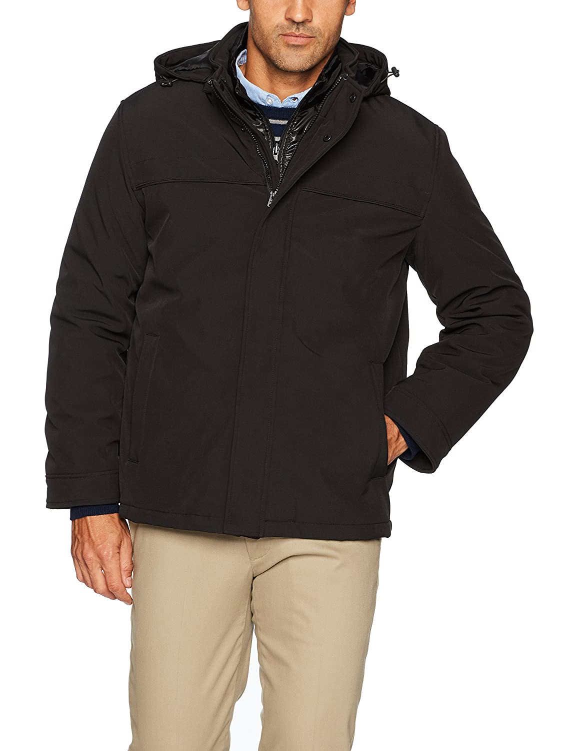 Dockers Men's 3-in-1 Hooded Soft Shell Systems Jacket Dockers Men' s Outerwear DM6RP382