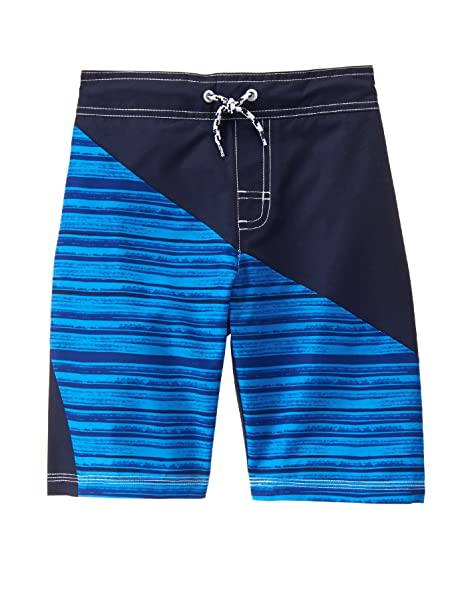 Gymboree Big Boys' Diagonal Blu Trunks, Multi, ...