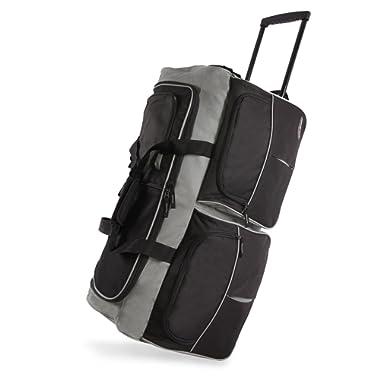 Pacific Coast Signature 30  Large Rolling Duffel Bag, Black