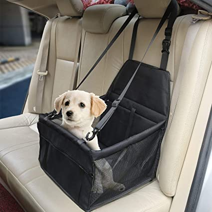 2 In 1 Dog Booster Car Seat Cover Passenger Seat Cat /& Dog Quilted Foldable Protector M/&W Waterproof Pet Travelling Vehicle Puppy Carrier