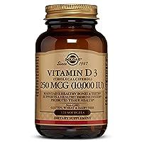 Solgar Vitamin D3 (Cholecalciferol) 250 MCG (10,000 IU), 120 Softgels - Helps Maintain...