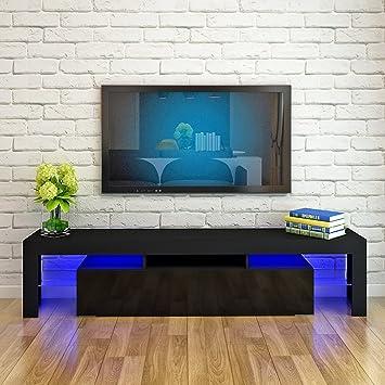 britoniture TV unidad armario frontal blanco brillante soporte para televisor con LED luces muebles para comedor 200 cm: Amazon.es: Electrónica