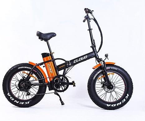 Cloud Bicicleta elétrica de montaña | Rueda Gorda | Plegable 250w | 60 km autonomia: Amazon.es: Deportes y aire libre