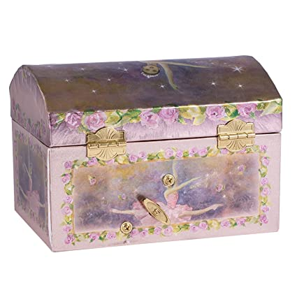 Childrens Purple Musical Music Box Jewelry Music Box Spinning