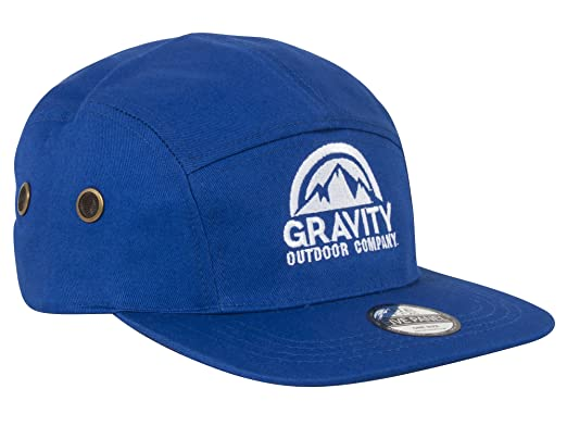 Gravity Outdoor Co. Gorra Ajustable de 5 Paneles - Royal: Amazon ...