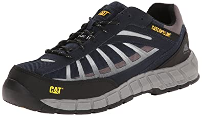 Caterpillar Men's Infrastructure Steel Toe Work Shoe, Navy, ...