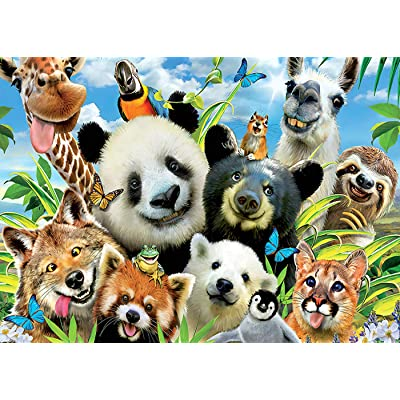akse Puzzles for Adults 1000 Piece Dog Puzzle Toys Cat Puzzle Jigsaw Puzzles (Zoo): Toys & Games