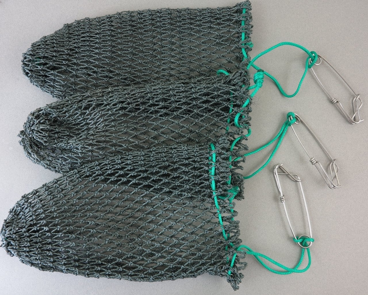 THREE Heavy Poly Mesh Crab Bait Bags with Stainless Steel Clip