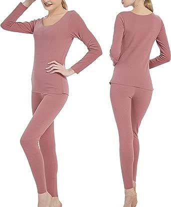 Alingdaundwr Womens Long Johns Thermal Underwear Set Smooth Seamless Base Layers S-XL