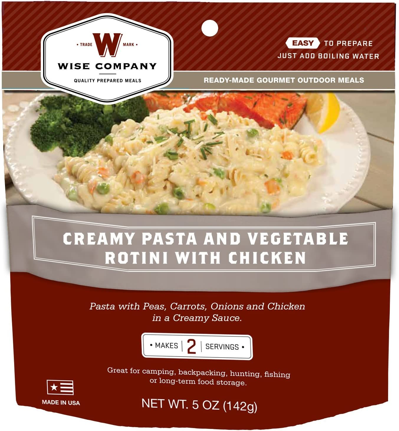 Wise Outdoor Creamy Pasta and Vegetable Rotini with Chicken (4.3-Ounce)