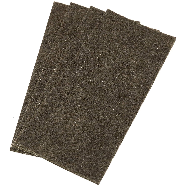 4 x almohadillas de fieltro   80x180 mm   rectangulares   marró n   autoadhesivas   Protector de suelosde la má xima calidad (3.5 mm) Adsamm