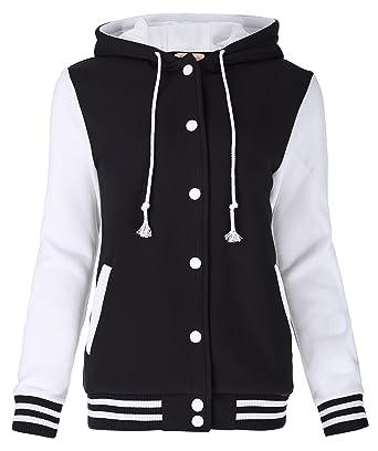 Kate Kasin Unisex Women's Varsity Baseball Hoodie Jacket Outerwear ...
