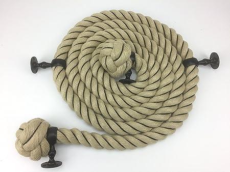 24 mm synthèse Poly Chanvre//Terrasse//Corde d/'escalier Corde Naturel Bannister Corde 15 mètres