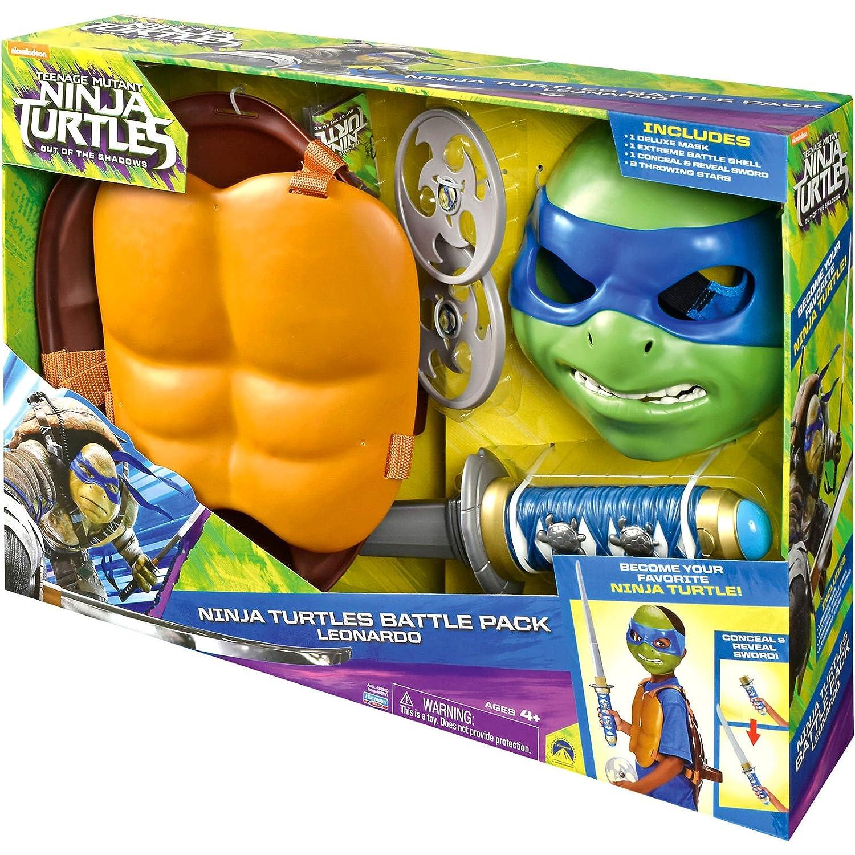 TMNT Movie II Ninja Turtle Battle Pack - Leonardo 6768640 ...