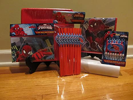 Amazon.com: Marvel Spiderman Suministros fiesta de ...