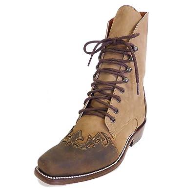 Westernwear-Shop Western Old Style Damen-Stiefelette Antonia Cowboystiefel BZW. Cowboy Boots & Bikerstiefel Westernstiefel Stiefeletten für Frauen BZW. Damen (37) Braun oBSFhUtCC2