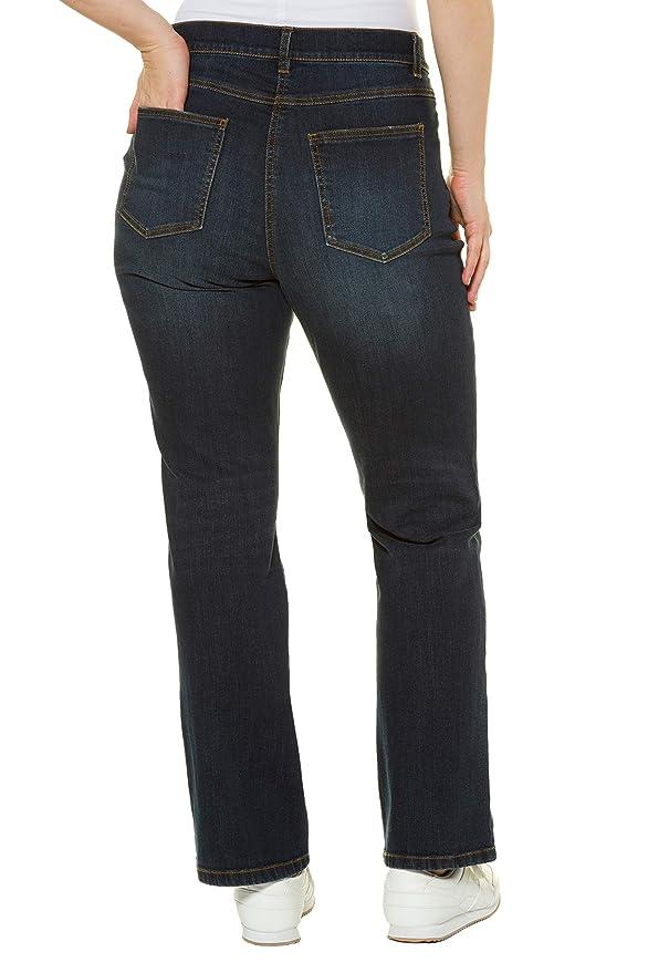 91ebe6933b8 Ulla Popken Women s Plus Size Elastic Waist Bootcut Jeans 714959 at Amazon  Women s Clothing store