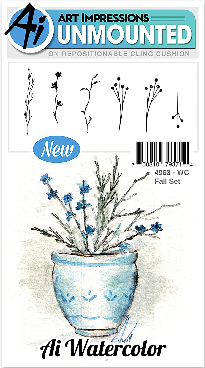 Fall Art Impressions WC4963 Watercolor Cling Rubber Stamps