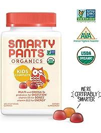 SmartyPants Vegetarian Organic Kids Daily Gummy Vitamins: Multivitamin, Gluten Free, Non-GMO, Omega-3, Probiotic, Vitamin...
