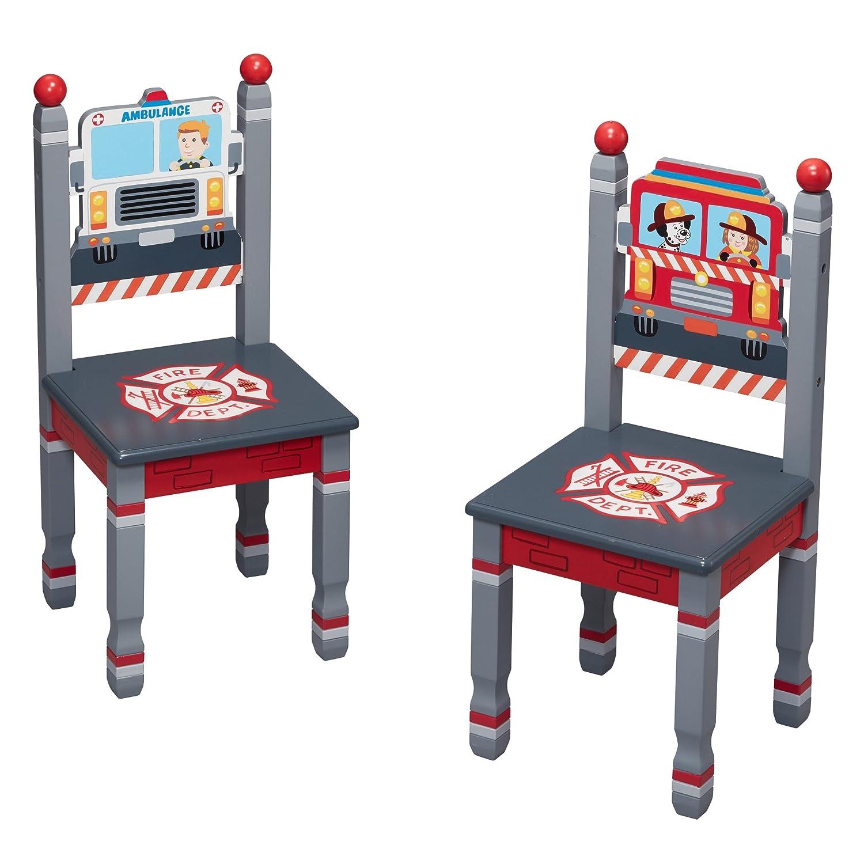 Juego de mesa y silla de bomberos de Fantasy Fields para niños TD-0046SET: Amazon.es: Bebé