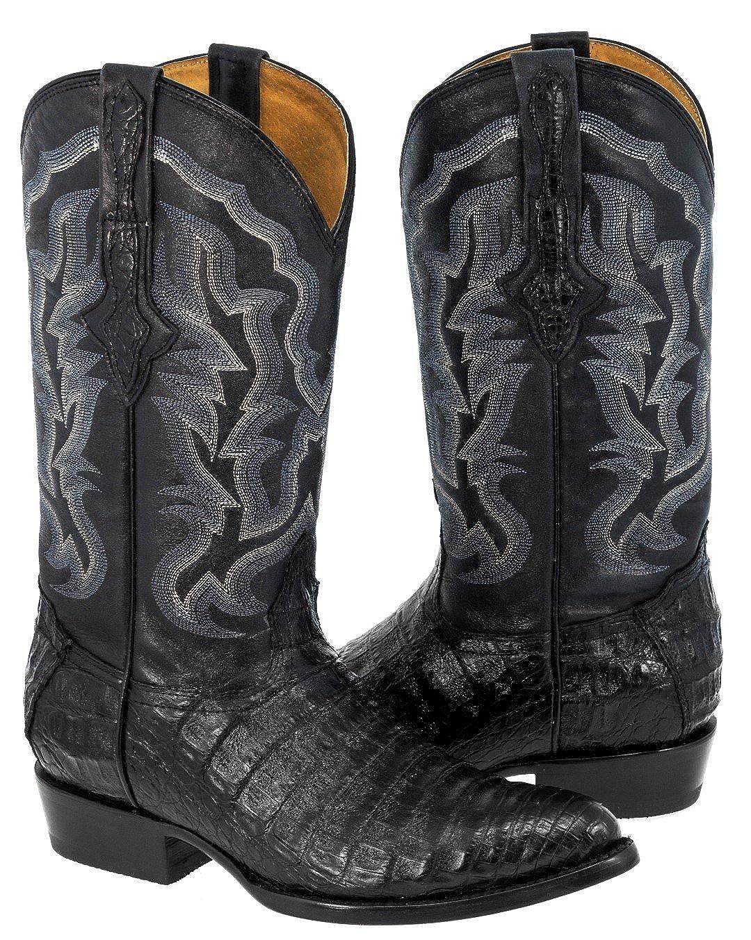 Cowboy Professional Mens Crocodile Belly Skin Leather Western Cowboy Boots J Toe