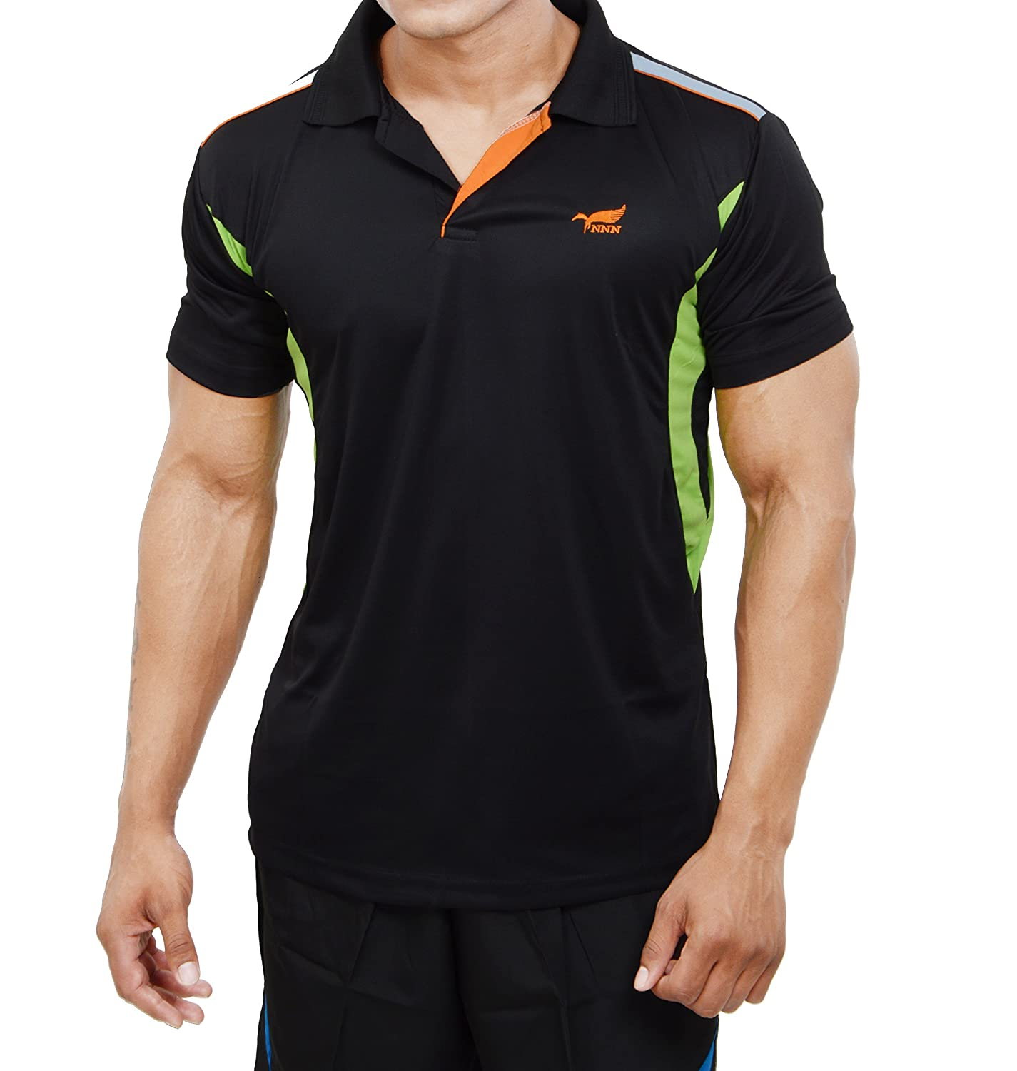Black t shirt sports - Nnn Men S Polyester Dry Fit Sports T Shirt Amazon In Clothing Accessories