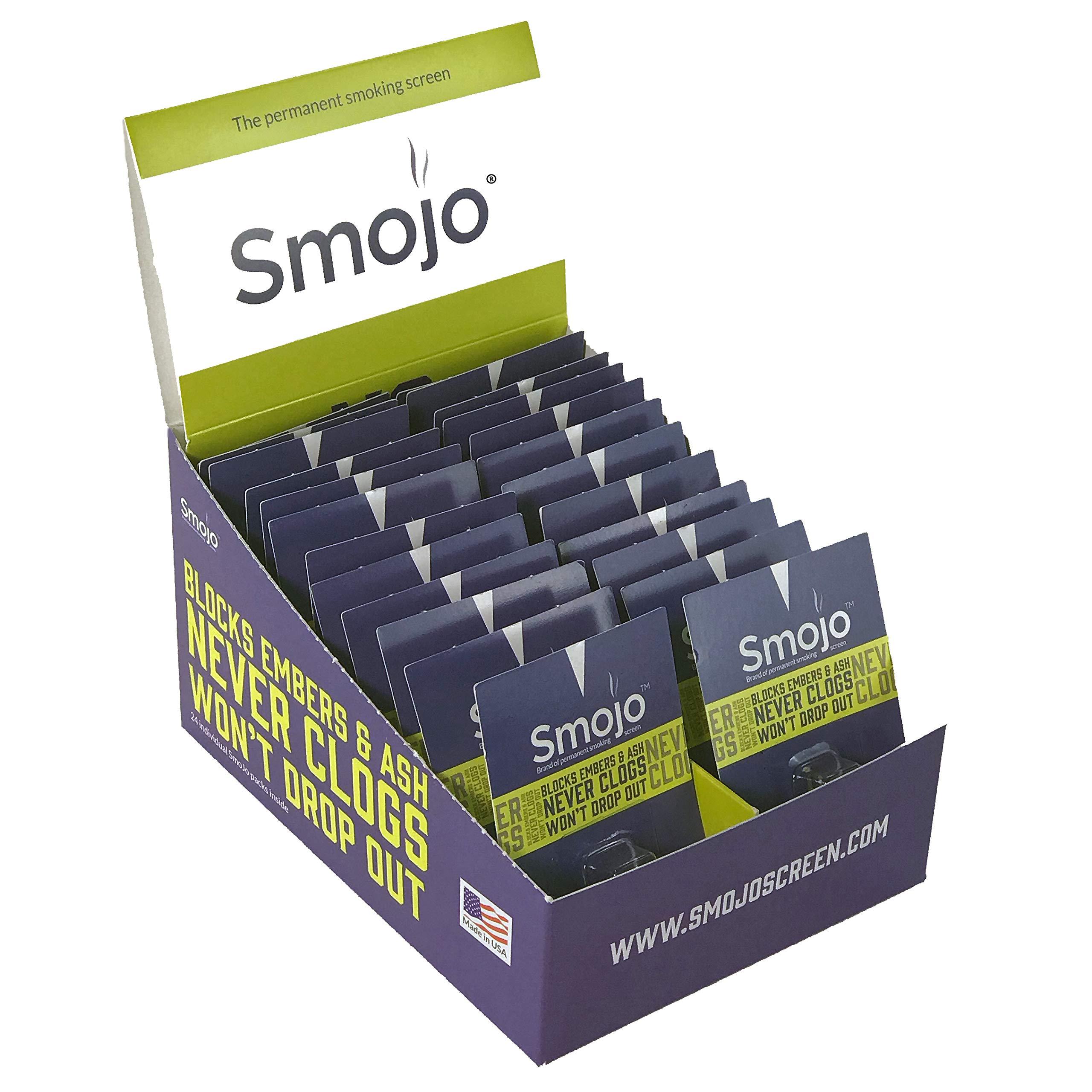 Smojo Permanent Smoking Screen (Pop-n-Shop Container of 24 Regular Single Packs) by Smojo