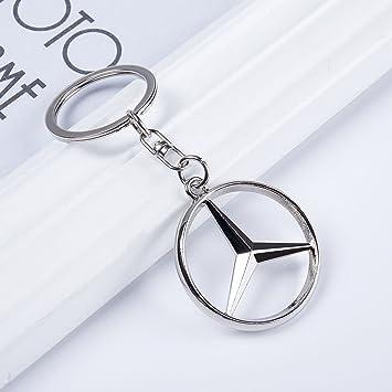 qzs Mercedes Benz 3d logotipo de metal llavero coche Llavero ...