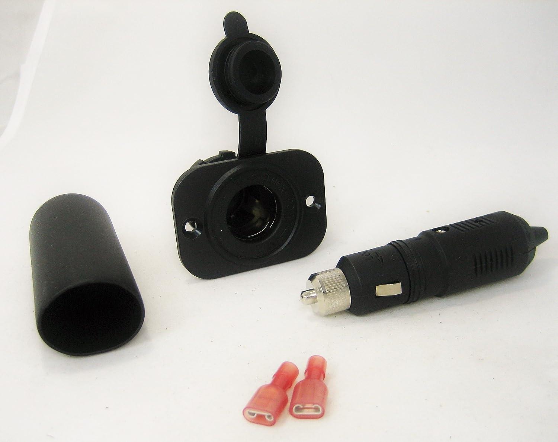 12 Volt Accessory Lighter Socket and Locking Plug Motorcycle Marine S+//lplg