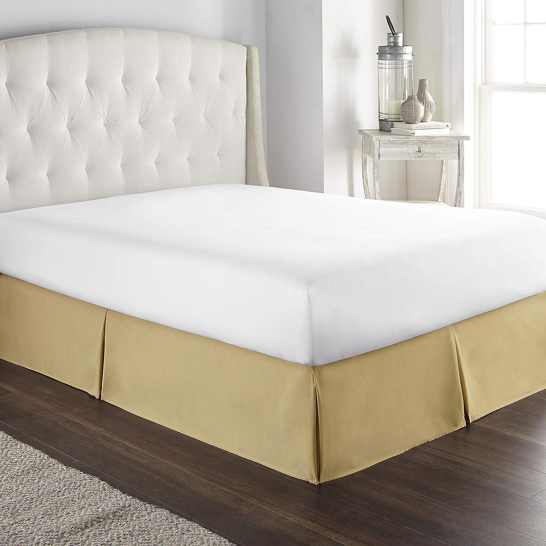 "Luxury Satin Silk Bed Skirt Dust Ruffle Elegant Bed Sheet 14/"" Drop Queen King"