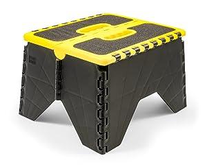 Camco 43637 Yellow/Black Non Skid RV Folding Step Stool