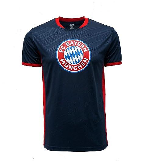 fb13e58ce23 FC BAYERN MUNICH Official Merchandise by HKY Sportswear Men s Short Sleeve  Jersey T-Shirt