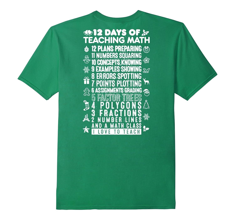 12 Days Of Teaching Math Christmas T Shirt-CL – Colamaga