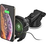 iOttie Wireless Car Charger Auto Sense Qi Charging Automatic Clamping Dashboard Phone Mount for iPhone, Samsung Galaxy…