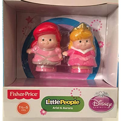 Fisher-Price Little People Two Disney Princesses Ariel and Aurora: Toys & Games