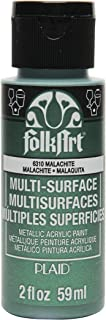 product image for FolkArt Multi-Surface Metallic Paint in Assorted Colors (2 oz), Metallic Malachite