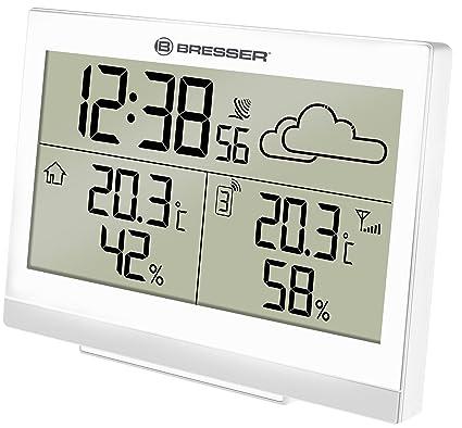 Bresser Funkwetterstation TemeoTrend WF mit Innen-//Außentemperatur und Luftfeuc