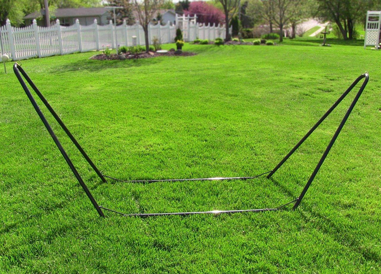 Sunnydaze Portable Steel 10 Foot Hammock Stand, 300 Pound Capacity by Sunnydaze Decor (Image #3)