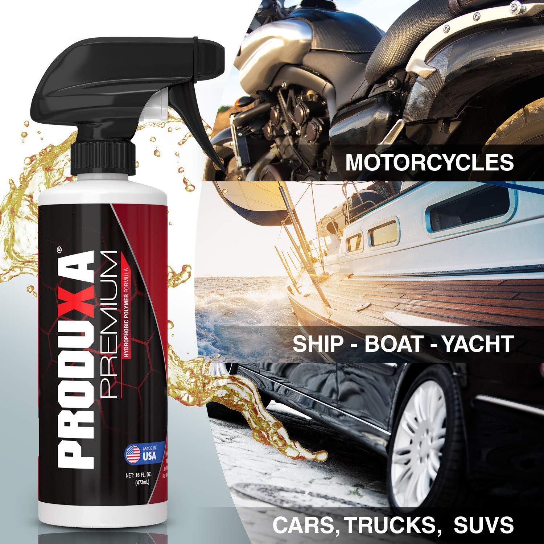 PRODUXA Premium Super Gloss & Ultra Hydrophobic Shine Spray: Revolutionary Paint Polish & Sealer | Multi-Surface Top Coat for Car, Bike & Boat | Applies in Minutes, Long Lasting & Streak-Free | 2 KIT by PRODUXA (Image #5)