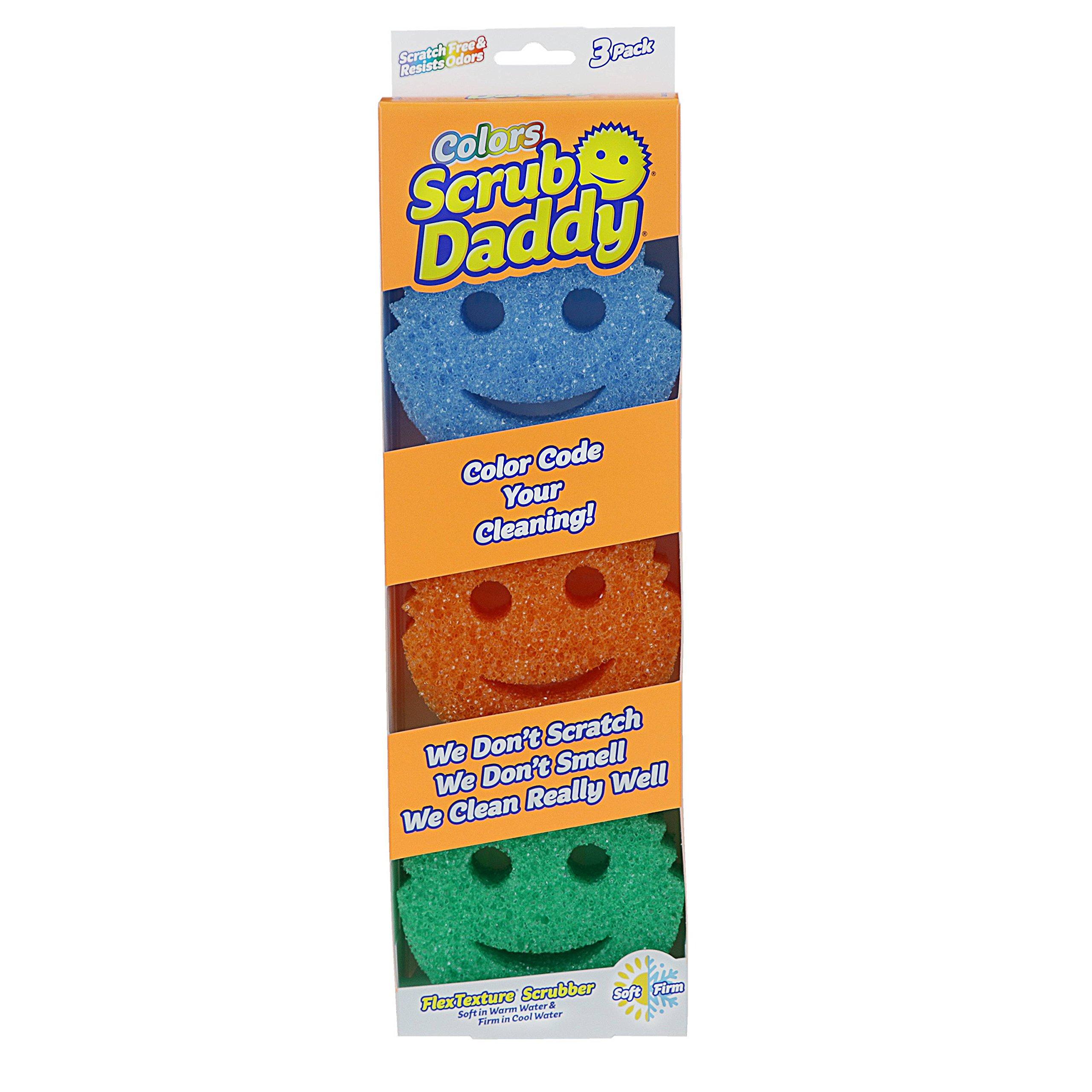 Scrub Daddy Color Sponge, Value Size 4 Pack hjp( Total 12 Ct . )