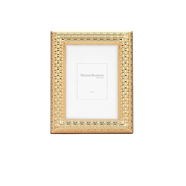 Reed y Barton reloj satinado marco, oro, 4 \