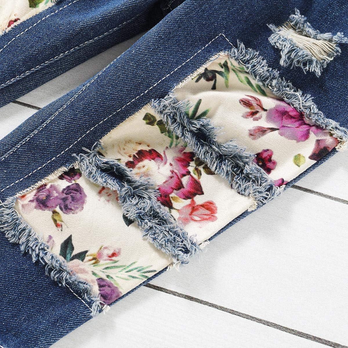 Stirnband 3 St/ück Kleidung Set Kinder Bekleidungsset OBEEII Baby M/ädchen Kleidung Drucken Top Lange Jeans Hosen