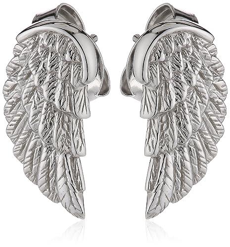 Engelsrufer Damen-Ohrstecker Flügel 925 Silber rhodiniert – ERE-WING-ST
