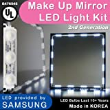 Crystal Vision Make up Mirror LED Light Kit Provided by Samsung for Cosmetic Mirror Vanity Mirror LED UL Power Supply w/ Dimmer Controller