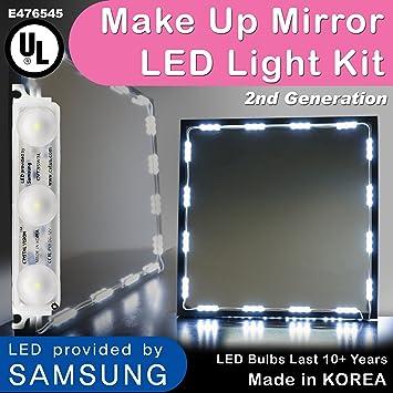 Amazoncom Crystal Vision Hollywood Style Makeup Mirror Led Light