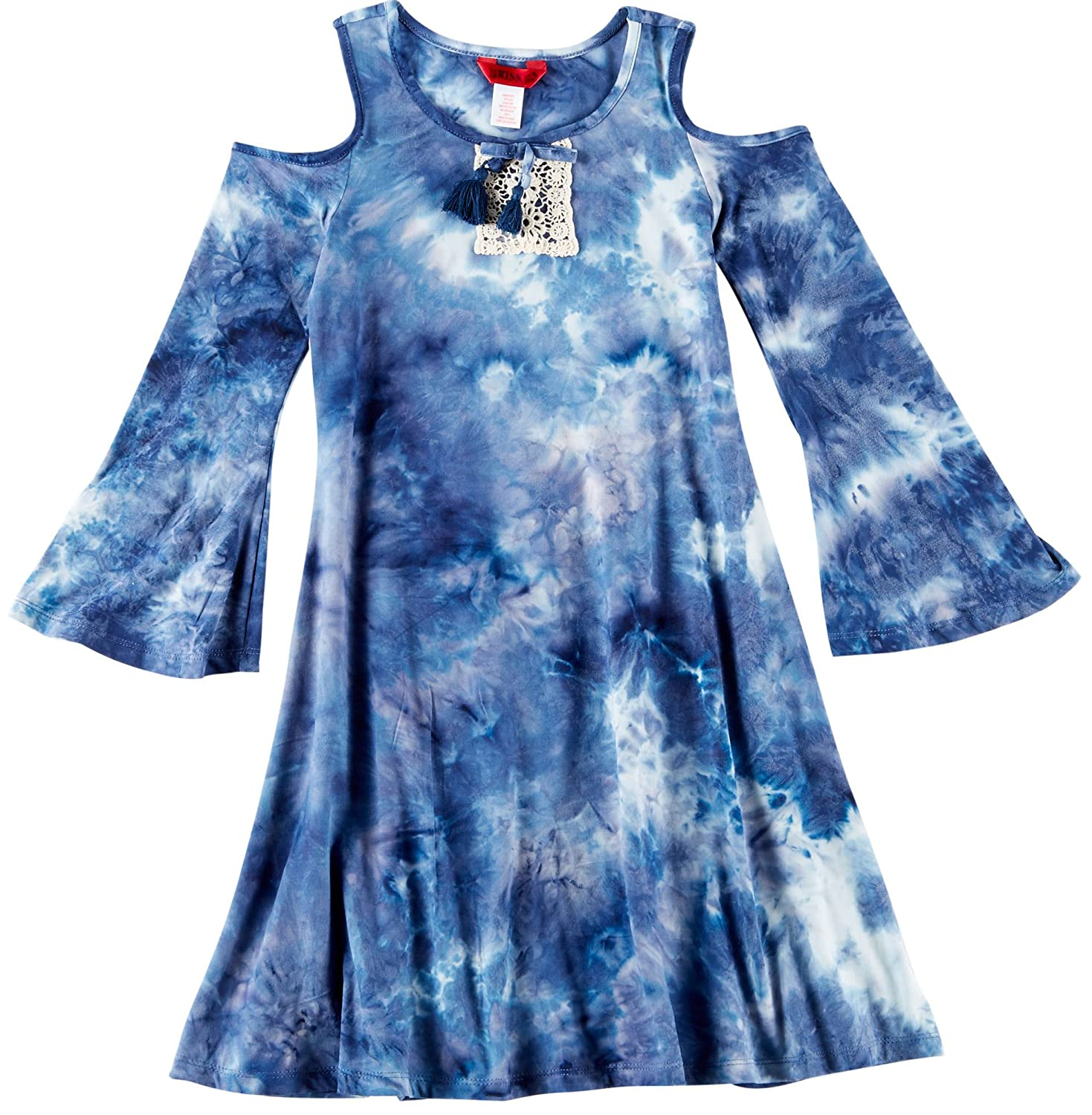 1ST KISS Big Girls Tie Dye Bell Sleeve Dress