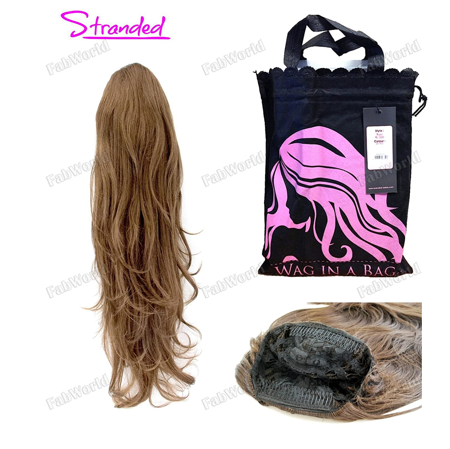 New Wag In A Bag Synthetic 34 Half Wig Honey Amazon Beauty