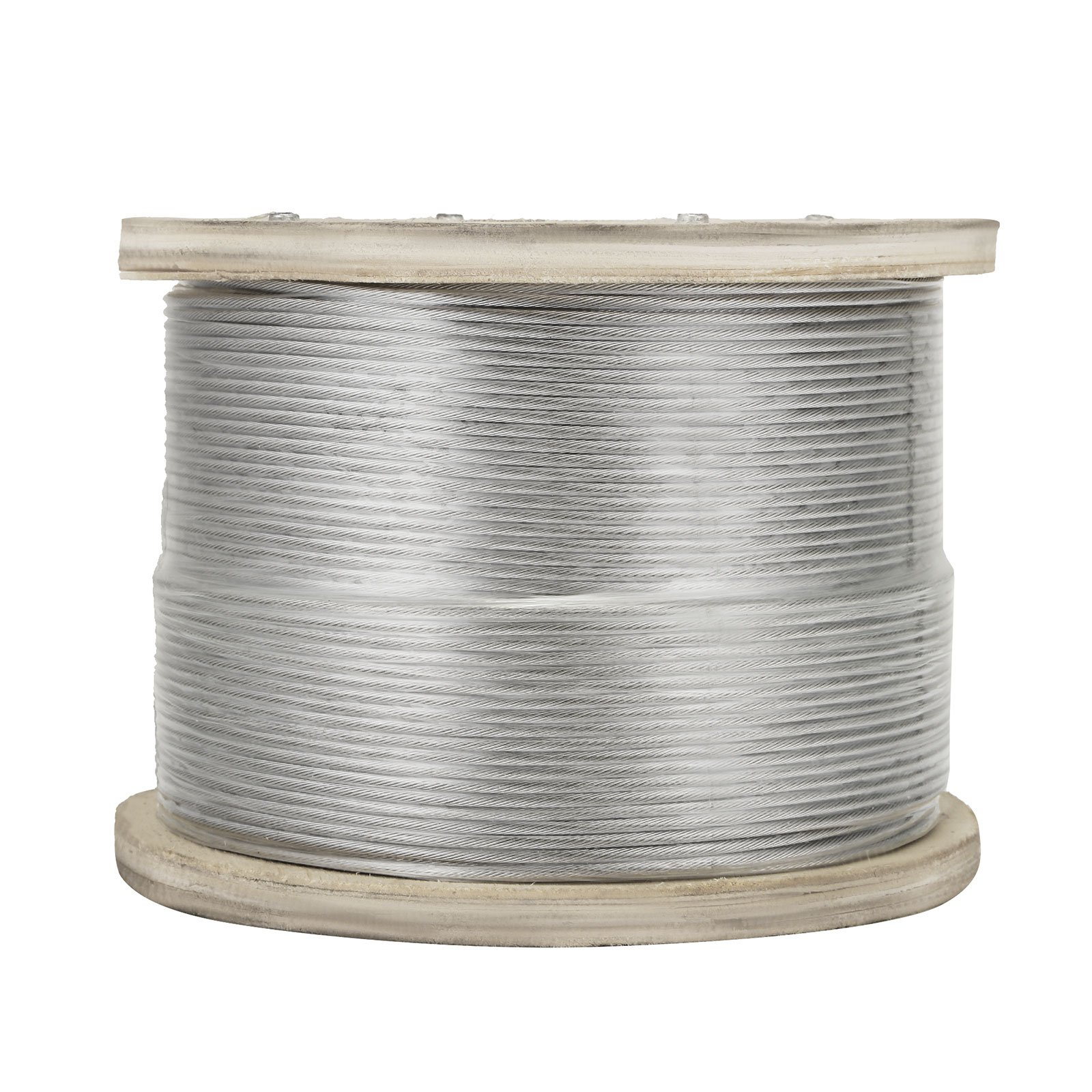 "LOVSHARE 1/8"" 1000FT Wire Rope T316 Stainless Steel Cable Railing 1x19 Strand Core Cable Reel"