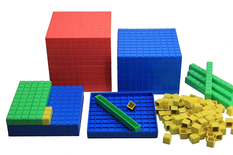 WISSNER® aprender activamente – Dienes decimales juego de cálculo 121 piezas – RE-Plastic°