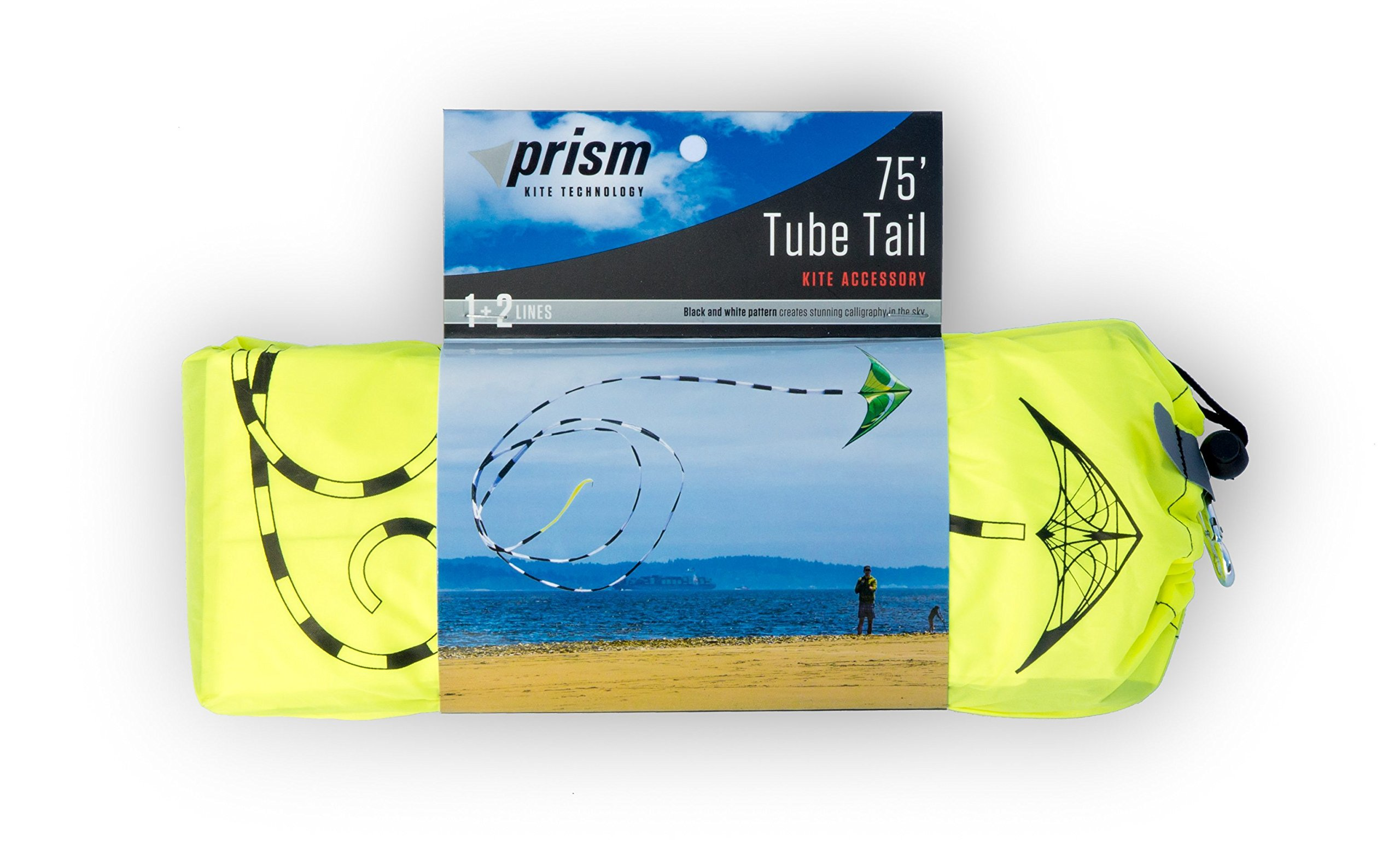 Prism Hypnotist Stunt Kite Mega Tube Tail Strap Bundle (4 Items) + Prism 75ft Tube Tail + Peter Lynn HD Padded Strap Handles Pair + WindBone Kiteboarding Lifestyle Stickers + Key Fob (Citrus) by Prism, Peter Lynn, WindBone (Image #3)